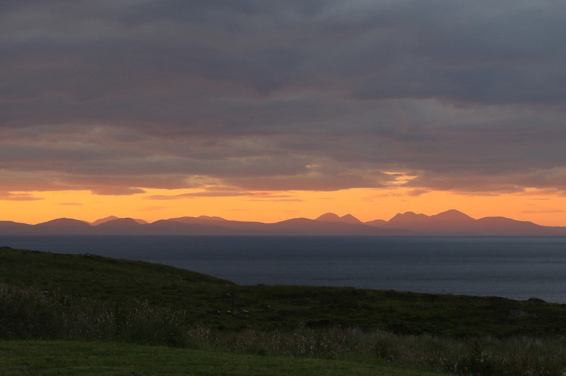 Pooltiel House - self catering on Skye - summer sunset