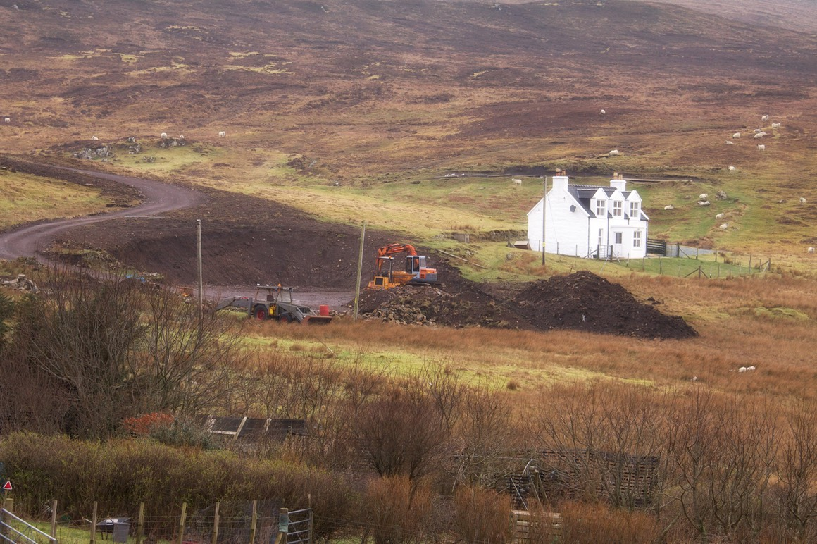 Pooltiel House-Scottish-holiday-home-clearing-of-the-site